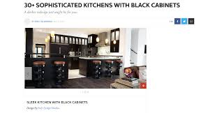 100 Sophisticated Kitchens Elle Decor 30 With Black Cabinets