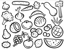 Coloring Pages Fruits And Vegetables 12 Fruit With Vegetable