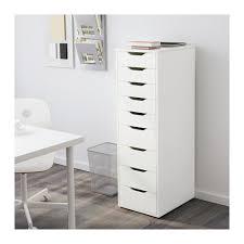 ALEX Drawer unit with 9 drawers White 36x116 cm IKEA
