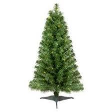 3ft Prelit Slim Artificial Christmas Tree Alberta Spruce Clear Lights