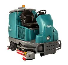 t16 battery powered ride on scrubber tennant company scrubbers