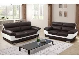 couchgarnitur leder 3 2 braun elfenbein