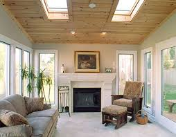 sunroom with beadboard ceiling quality design construction