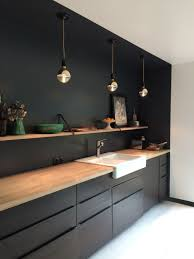 ikea wasserhahn schwarz schwarze küche küchen design