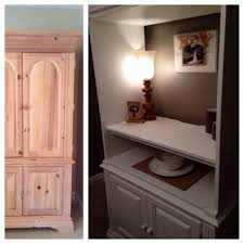 TV Armoire Repurposed Into A Dining Room Cabinet Hutch Diningroom Repurpose Chinacabinet Furniture DIY