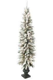 Pre Lit Pencil Slim Christmas Trees by Pencil Slim Christmas Trees Artificial Unlit Pencil Artificial