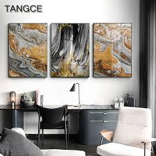moderne abstrakte gelb grau leinwand kunst malerei