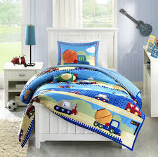 Buy 4 Piece Boys Truck Themed Comforter Full Queen Set, Fun Multi ...