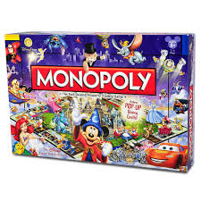 Disney Theme Park Edition III Monopoly Game Fun Across The Board Combine Worlds Most
