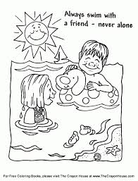 Pool Safety Coloring Pages Best 2017 For Water