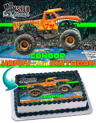100 Toro Loco Monster Truck El Edible Cake Topper Personalized Birthday