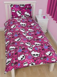 Monster High Bedroom Set by High Duvet Cover Skullette Bedding Set