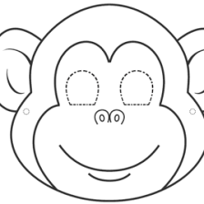 Monkey Face Coloring Pages Google Twit