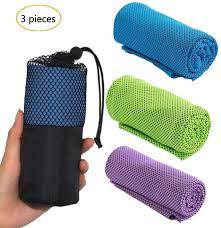 cooling towel für sport fitness 3 pack kühlung handtuch kühltuch kühlendes handtuch mikrofaser handtuch für reise climb golf fuß tennis