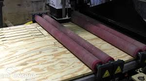 Roller Hold Down Plywood Furniture Frame Parts on CNC Router by