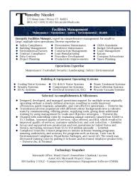 Facility Engineer Sample Resume For Facilities