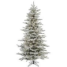 Vickerman 10 Flocked Sierra Fir Slim Artificial Christmas Tree With 1450 Warm White LED Lights