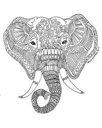 Printable Zen Critters Sun Elephant Coloring Page