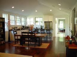 sloped ceiling lighting kitchen traditional with great room