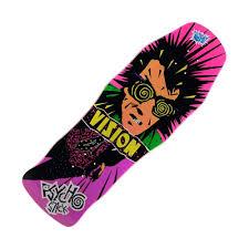 100 Original Vision Skateboards Psycho Stick Pink Stain Concave Reissue Skateboard Deck 100
