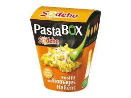 pasta box fusilli aux fromages italiens sodebo 300g tous les