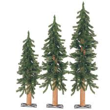 Artificial Christmas Tree With Wooden Tr UPC 017816042827