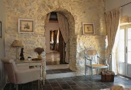 Rustic Stone Wall Design In Traditional House France