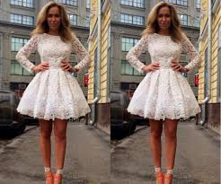 popular ivory long sleeve lace dress buy cheap ivory long sleeve