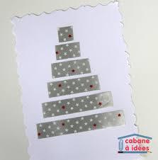 une carte de noël à faire avec des bouts de rubans cadeaux
