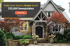 BHG $25k Sweepstakes to make Your Home a Dream Home