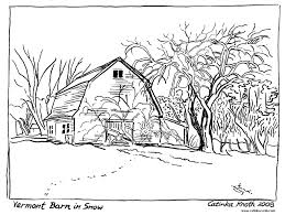 Country Farm Coloring Pages House