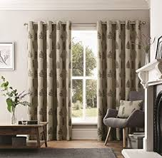 Amazon Uk Living Room Curtains by Curtina U0027ancona U0027 Heavy Leaf And Fern Embellished Woven Jacquard