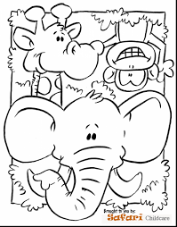 Terrific Preschool Jungle Animals Coloring Pages With Animal And Realistic