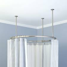Bathroom Curtain Rod Walmart by Shower Curtain Rod With Brushed Nickel Finish Main Picture A Image