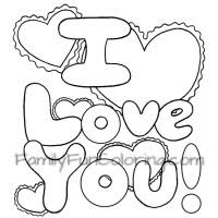 I Love U Coloring Pages 13 Pretty Ideas You Hearts Small
