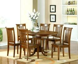 6 piece dining room set brown leather chairs seater glass table
