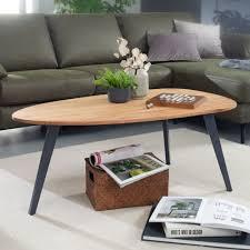finebuy couchtisch akazie massivholz 110 x 45 x 60 cm wohnzimmertisch nierenform sofatisch modern holztisch tisch wohnzimmer holz metall