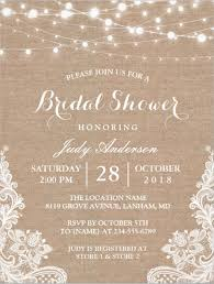 Rustic Burlap Bridal Shower Invitation