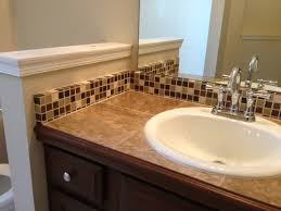 tile countertop and backsplash traditional bathroom