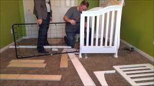 Bratt Decor Crib Assembly Instructions by Million Dollar Baby Classic Ashbury Crib In White Assembly Youtube