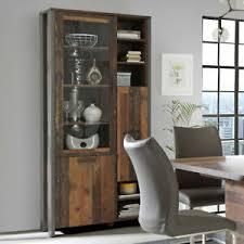 vitrine clif vitrinenschrank buffet schrank in wood