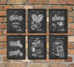 The Ultimate Harley Davidson Motorcycle Patent Wall Art Poster Set Of 6