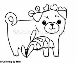 Pug Dogs Coloring Page 185 Design Coloringpages