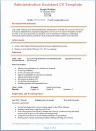 Administration Cv Template Resume Format For Admin Officer Beautiful Examples Of Famous Yet