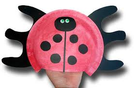 Paper Crafts For Children Plate Ladybug Hand Puppet