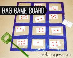 Bag Game Board For Preschool And Kindergarten