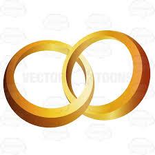 Two Gold Rings Interlocked