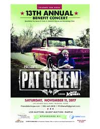 Pat Green – Tickets – Las Palmas Race Park – Mission, TX – November ...