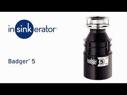 badger 5 garbage disposal insinkerator
