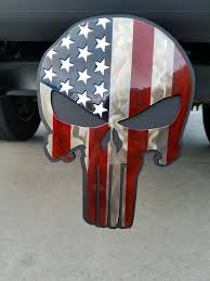 American Flag, Punisher Trailer Hitch Cover, Hitch Plug, Hitch Cover ...